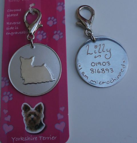 YORKSHIRE TERRIER ID TAG - ENGRAVED FREE